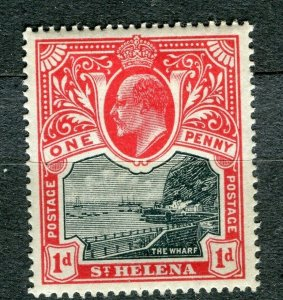 ST.HELENA; Early 1900s Ed VII fine Mint hinged 1d. value