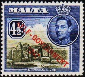 Malta. 1948 4 1/2d S.G.241a Fine Used