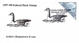 US Federal Duck Stamp,Canada Goose 1997 Cover