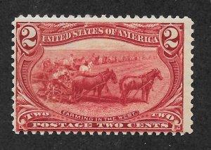 286 MNH, 2c. Trans-Mississippi, scv $60, Blemish Free O.G.,Free Insured Shipping