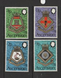 Ascension 1973 Royal naval crests UM/MNH SG 166/9