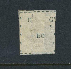 UGANDA 1895, 50c BLACK+ROYAL CERTIFICATE, MINT SG#5 CAT£1400 (SEE BELOW)