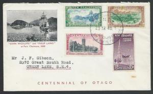 NEW ZEALAND 1948 cover, Port Chalmers Centennial of Otago cancel...........53255