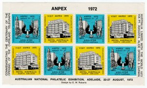 (I.B) Australia Cinderella : Australian National Philatelic Exhibition (1972)