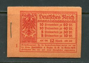 GERMANY COMPLETE UNEXPLODED BOOKLET MICHEL# MH15A  MINT NEVER HINGED
