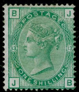 SG150, 1s green plate 13, M MINT. Cat £625. JB