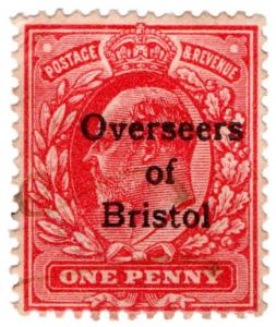 (I.B) Edward VII Commercial Overprint : Overseers of Bristol
