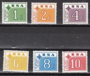 South Africa Scott J73-8 Mint NH (Catalog Value $14.85)