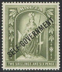 MALTA 1922 SELF GOVERNMENT 2/6
