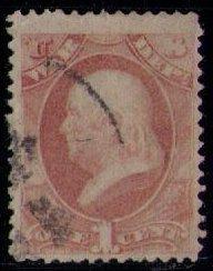 US Sc O83 War dept (1873) Used Nicely centered