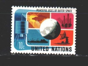 UN New York. 1975. 279 from the series. Satellite, communication. MNH.