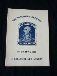 HARMERS AUCTION CATALOGUE 1955 'THE WATERHOUSE COLLECTION' 19th CENTURY USA