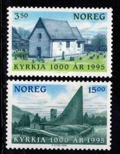 Norway Scott 1094-1095 MNH** Christianity stamp set