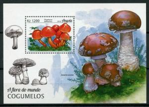 Angola 2018 MNH Mushrooms Waxcap Toadstool Mushroom 1v M/S Fungi Nature Stamps