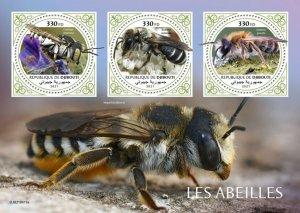 Stamps DJIBOUTI  - BEES.