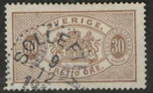 SWEDEN Scott o22 used 1891 official stamp