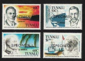 Tuvalu Cent of British Occupation of Tuvalu 4v Specimen 1992 MNH SG#625-628