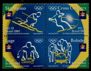 Brazil 2835 MNh Winter Olympics, Salt Lake City, Bobsled, Skiing, Luge