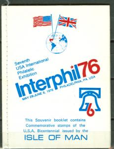 Great Britain-Isle Man # 80 INTERPHIL76 Booklet (1) Mint NH