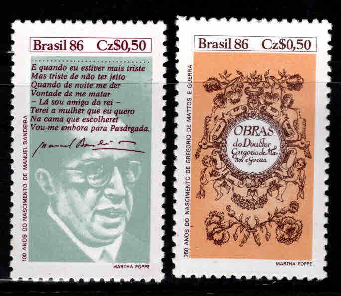 Brazil Scott 2080-2081  MNH** stamp