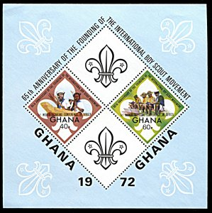 Ghana 489, hinged, 1st World Scouting Conference in Africa souvenir sheet