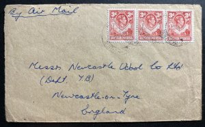 1950s Northern Rhodesia Airmail Cover To Newcastle England
