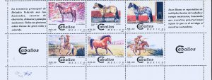 MEXICO 1893a-f + 4 LABELS. Horses - Mexican Breeds - Pairs MINT, NH. VF.