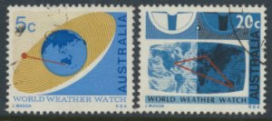 Australia  SC# 431-432 World Weather 1968  SG 417-418  Used as per scan