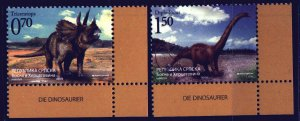 Bosnia and Herzegovina. 2009. 454-55. Dinosaurs. MNH.