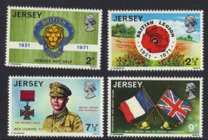 Jersey  1971  MNH  Royal British Legion  complete