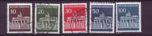 J8408 JL stamps 1966-8 germany set5 used #952-6 $1.70v