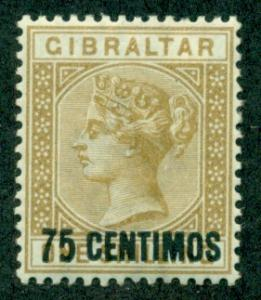 Gibraltar #28  Mint  VF VLH   Scott $67.50