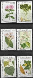 United Nations  1990 Medicinal Plants N575-6 G186-7 V101-2 MNH