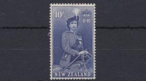 NEW ZEALAND  1953 - 59        S G  736    10/-   ULTRAMARINE       MNH