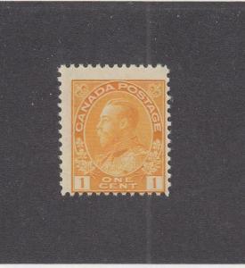 CANADA (MK3107) # 105  F-MNH  1cts 1922  KGV ADMIRAL / ORANGE-YELLOW CAT VAL $30