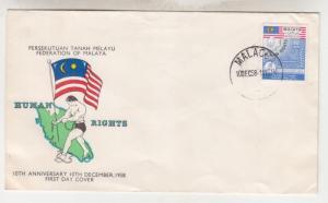 MALAYAN FEDERATION, 1958 Human Rights, 10c., fdc. MALACCA.