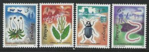 Faroe Islands 1991 Flora & Fauna set Sc# 216-19 NH
