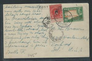 CURACAO (P0912B) 1948  PPC SHORT PAID , US POSTAGE DUE TO USA