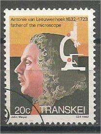 TRANSKEI, 1982, used 20c, Leeuwenhoek. Scott 98
