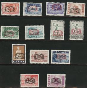 Greece Scott 472-481 Mixed set all MH* except 474 CV $235
