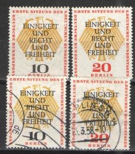 Germany - Deutsche Bundespost Berlin 1957 Sc# 9N158-159 MH & Used VG/F