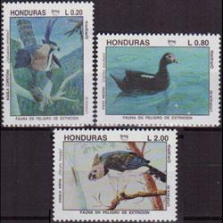 HONDURAS 1993 - Scott# C908-10 Endang.Birds Set of 3 NH