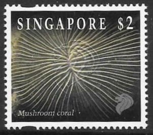 SINGAPORE SG751 1996 $2 REEF LIFE REPRINT MNH