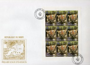 Niger 1998 Sc#1000 Year of the Tiger Chinese New Year Sheetlet (9) Official FDC
