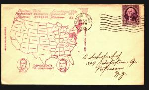1933 FDR Inauguration Cover - Electoral Map Cachet - Z14181