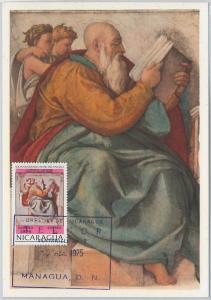 54263 - NICARAGUA - POSTAL HISTORY: MAXIMUM CARD - 1975  art MICHELANGELO