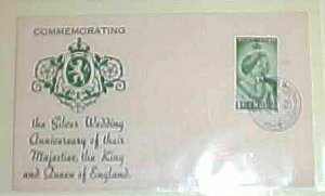 MALTA SILVER WEDDING KING & QUEEN OF ENGLAND 1949 CACHET UNADDRESSED