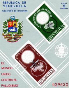 Venezuela 1962 Mosquito s/s Imperforated mnh.vf Numbered