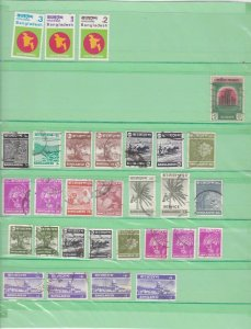 bangladesh stamps on album pages  ref 13247