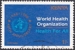 Kenya # 453 used ~ 1sh World Health Organization